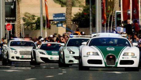 flotte voitures police dubai