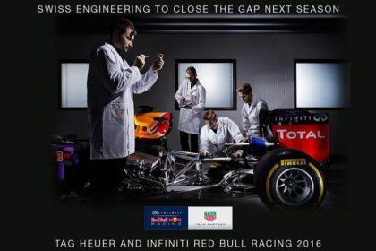 Annonce du partenariat entre Red-Bull et Tag-Heuer