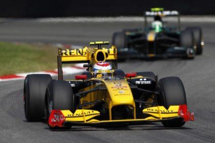 Vitaly Petrov au Grand Prix d'Italie 2010 sur Renault
